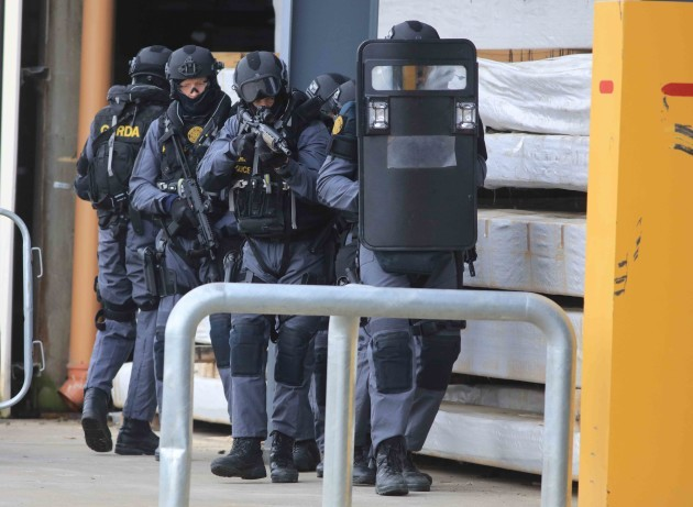 27/10/2016. Garda Terrorist Exercise Drogheda. Sce