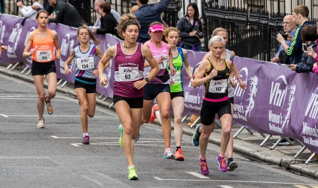 Anne Marie McGlynn on her way to winning the 2017 VHI Women's Mini Marathon