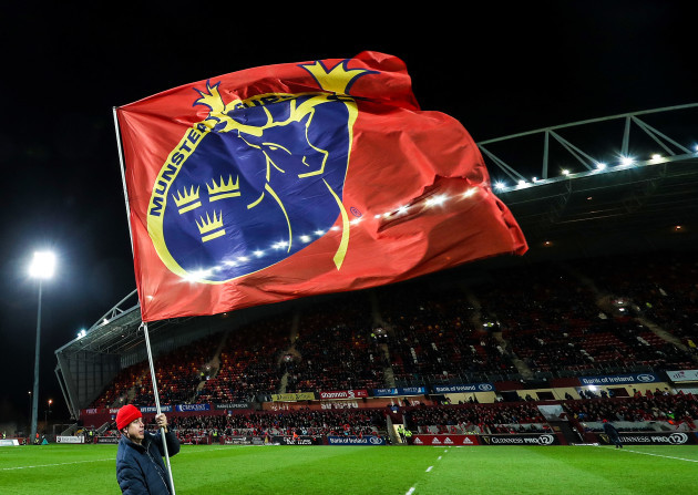 general view Thomond Park flags