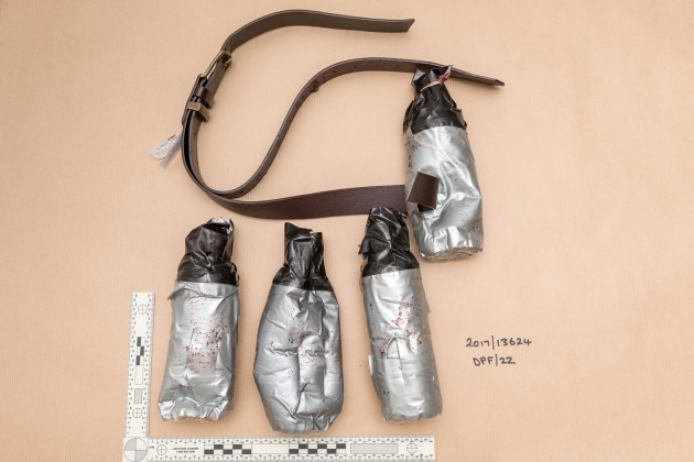 Photos of the London attackers' fake explosive belts have been released