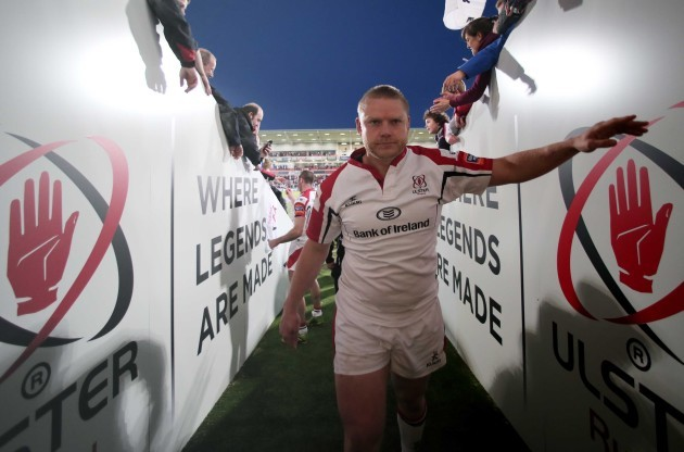 Tom Court says farewell to the fans at Ravenhill