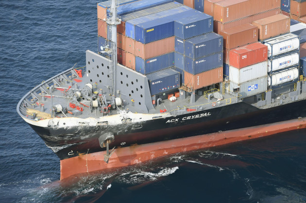 CORRECTION Japan US Navy Collision
