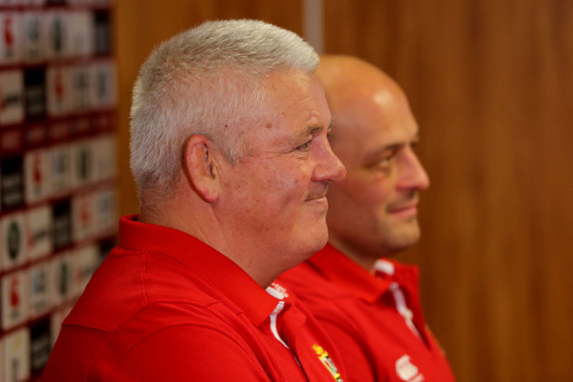 Warren Gatland and Rory Best