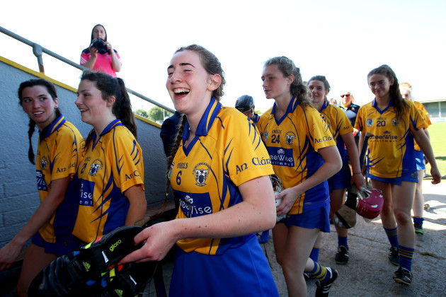 Clare Hehir celebrates after the game