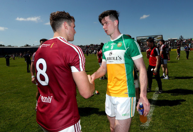 Alan Stone and Conor McNamee after the game