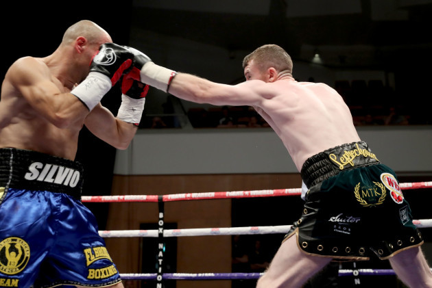 Paddy Barnes in action against Silvio Olteanu