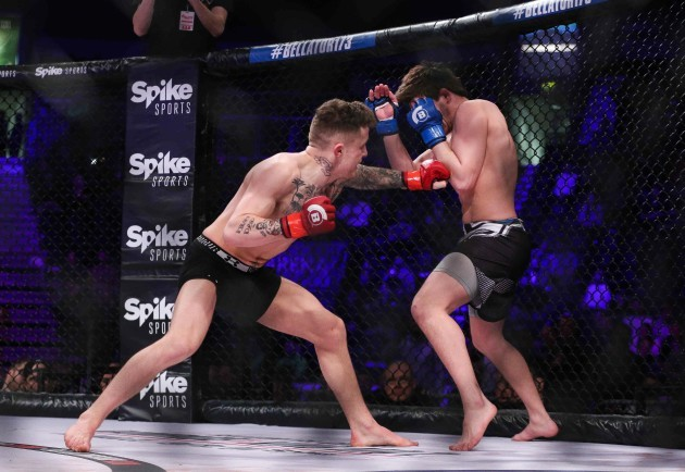 James Gallagher in action against Kirill Medvedovsky 24/2/2017