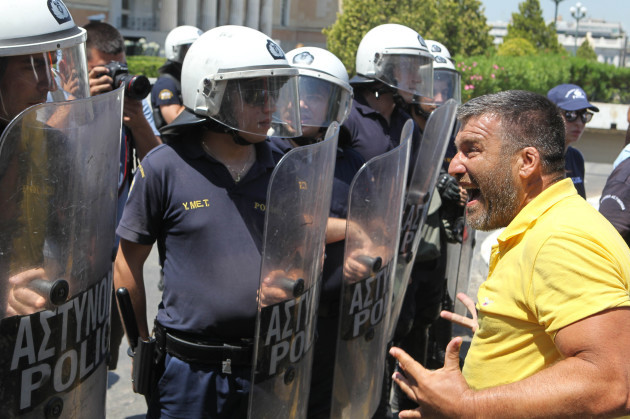 Municipalities Workers Protest In Athens, Greece