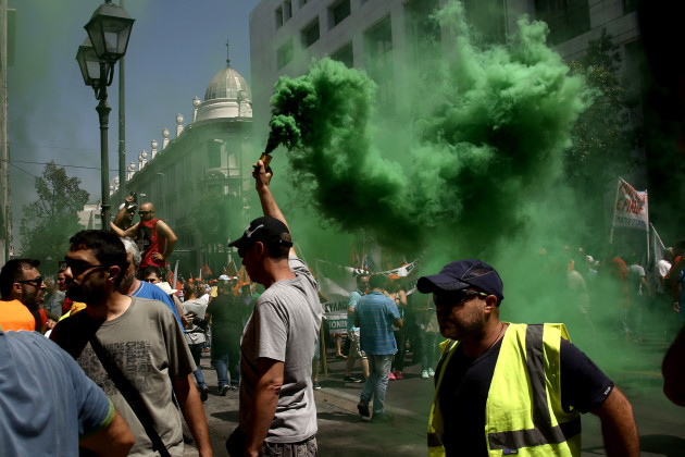 Greece: Municipal Workers Rally in Athens