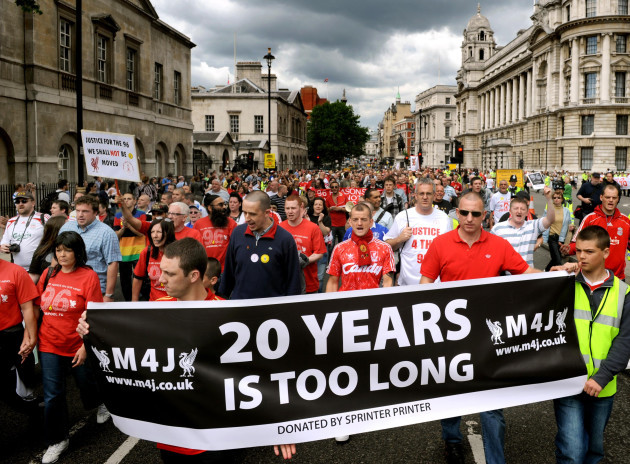 Hillsborough disaster campaigners march