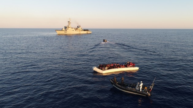 Irish Navy Rescues 712 off Libya