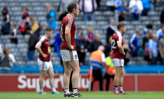 Westmeath players dejected