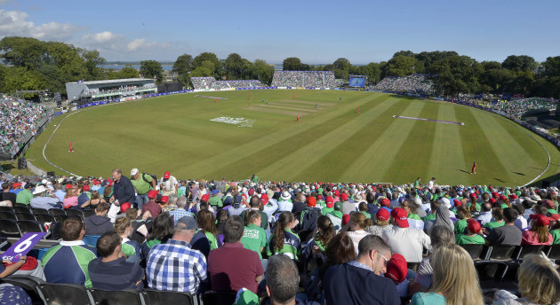 A general view from Malahide Cricket Ground
