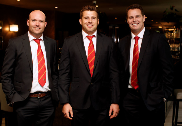 Jacques Nienaber, CJ Stander and Rassie Erasmus