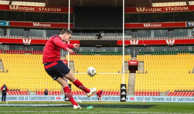 British and Irish Lions Jonathan Sexton during the kicking practice