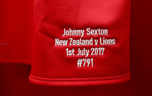 Jonathan Sexton's jersey