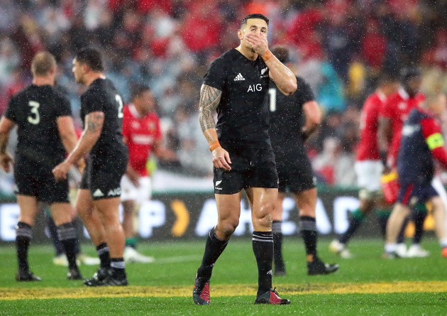 Sonny Bill Williams after being sent off