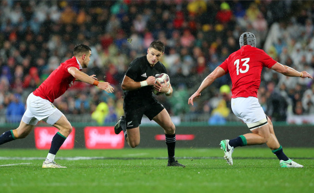 Beauden Barrett with Conor Murray