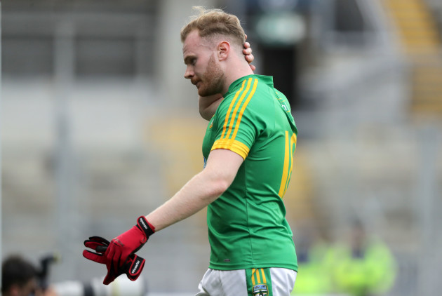 A dejected Sean Tobin of Meath at the end of the game