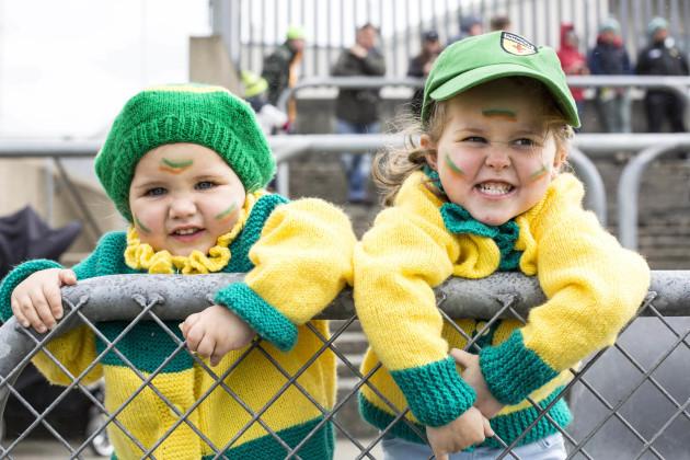 Donegal fans Elana Doogan and Shenice Doogan