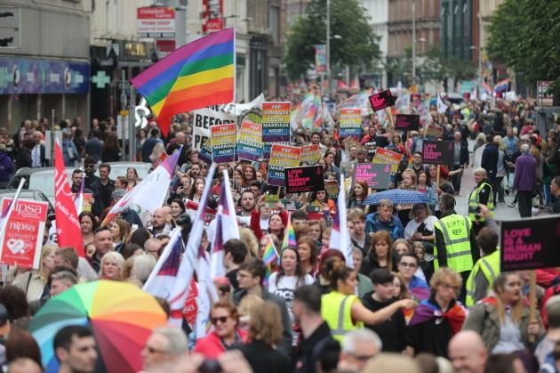 Belfast sex marriage rally