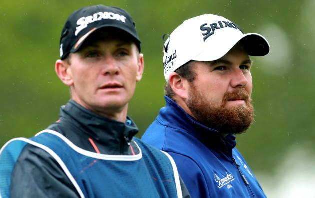 Dermot Byrne and Shane Lowry