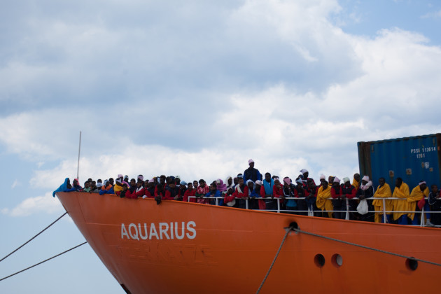 Italy: Migrants Landing In Salerno