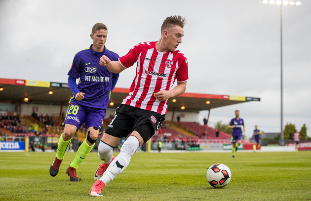 Derry City exit Europa League with defeat to FC Midtjylland in Sligo