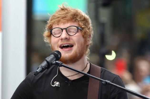Ed Sheeran at The NBC Concert Series in New York City
