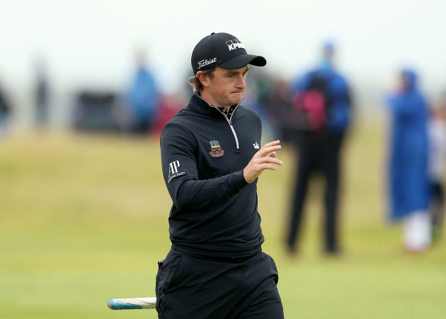 Paul Dunne on the 18th