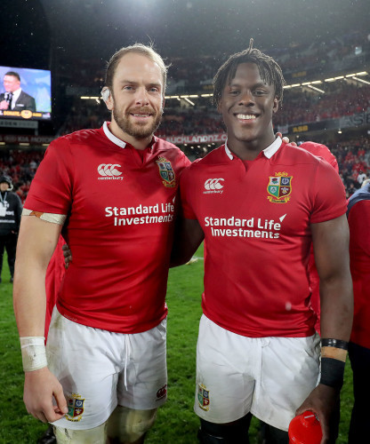 Alun Wyn Jones with Maro Itoje after the game