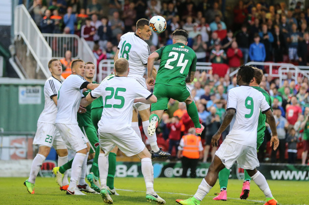 Sean Maguire scores a goal