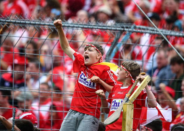 Cork supporters celebrate