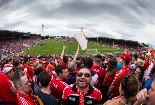 Cork supporters on the terrace