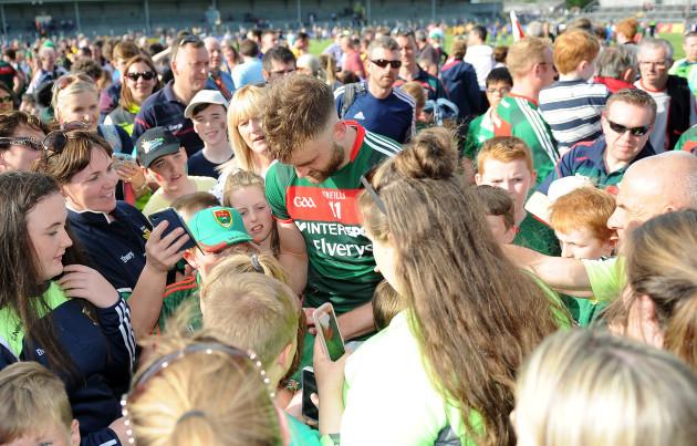 Aidan O'Shea signs autographs