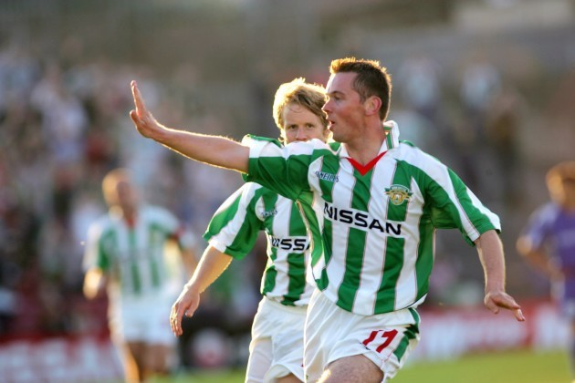 Cork City's Billy Woods celebrates