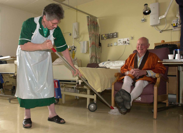 London Hosptial clean-up