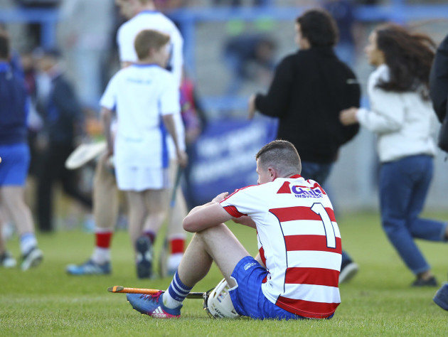 Shane Bennett sits dejected at the end of the game