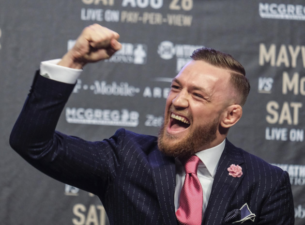 (SP)U.S.-LOS ANGELES-BOXING-MAYWEATHER-MCGREGOR