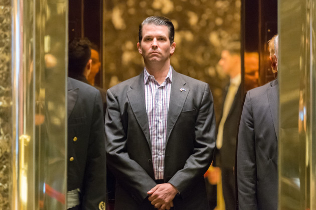 Donald Trump, Jr. arrives at Trump Tower