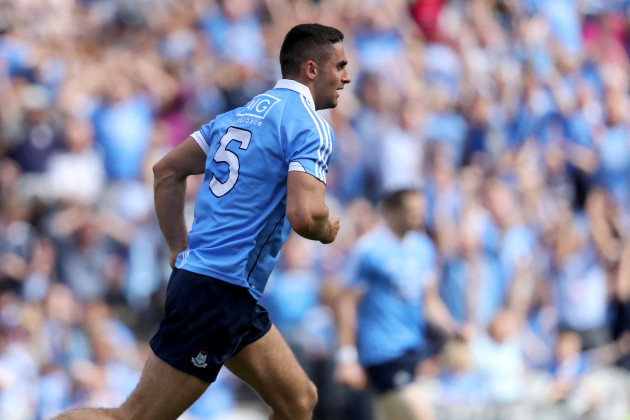 Dublin's James McCarthy celebrates scoring his sides second goal