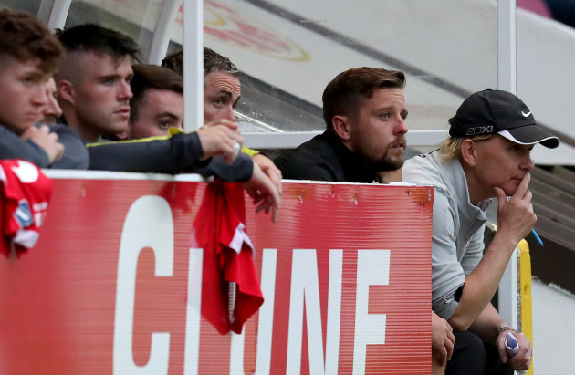 Liam Buckley watches on