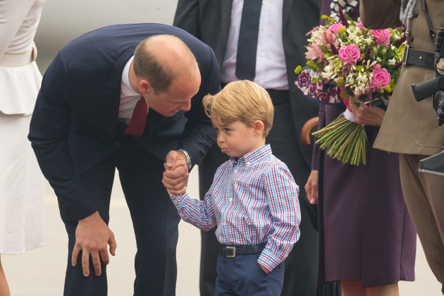 Royal visit to Poland - Day One