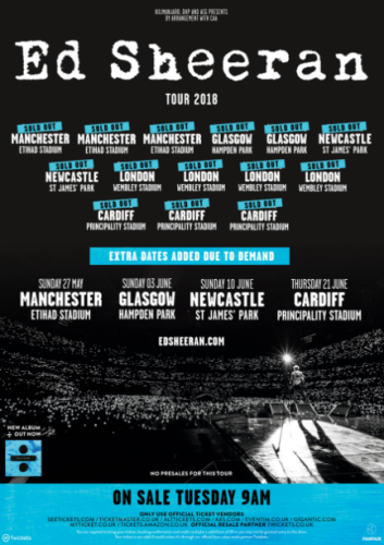 Ed Sheeran UK tour