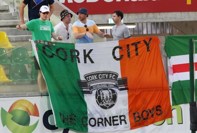 Cork City fans during the game