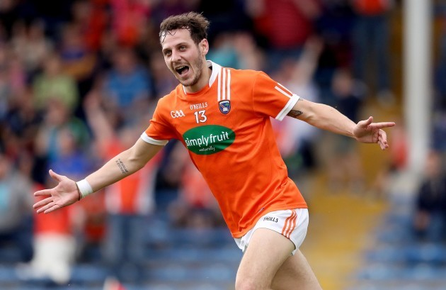Jamie Clarke celebrates scoring a goal
