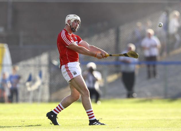 Declan Dalton shoots on goal