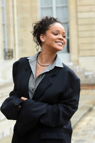 Brigitte Macron Receives Rihanna - Paris