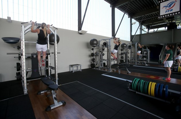 General view of the weight session