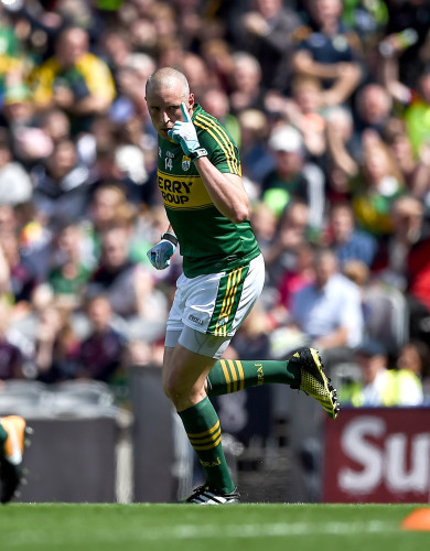 Kieran Donaghy celebrates after scoring a goal